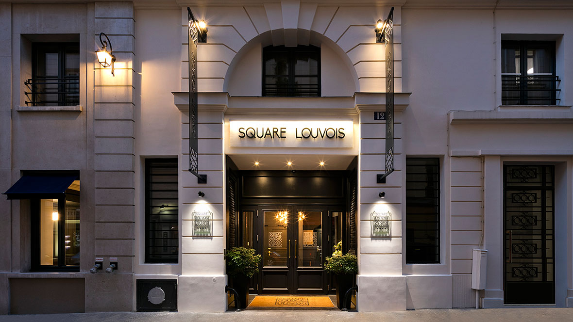 Hotel Square Louvois - Facade nuit